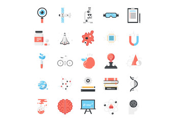 Research and Science Icons