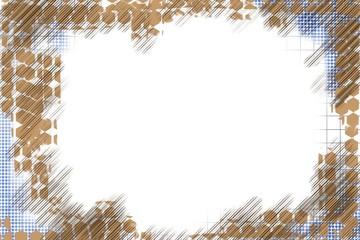 grundge worn distressed edges border frame and background for paper, poster, art, original hand paitnted design