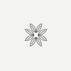 Abstract green leaf logo vector design. Environmental protection, ecology, healthy eating, Botanical Garden, park, forest, farm, agriculture vector sign.