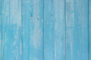Tuinposter koffiebar Blue wood textured wall background.