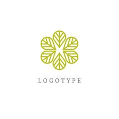 Tree leaf vector logo design, eco-friendly concept. Vector floral curve logo design.