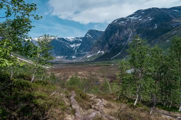 Norwegen Landschaft Wanderweg