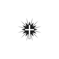 christian cross vector icon