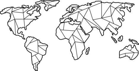 Weltkarte Geometrisch