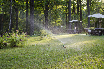Garden lawn watering system