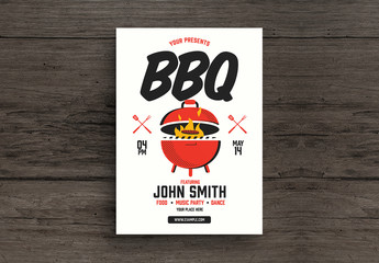 BBQ Party Flyer Layout
