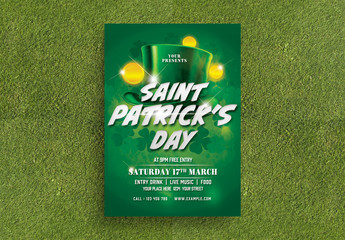 Saint Patrick's Day Flyer Layout with Festive Graphics