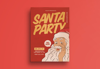Santa Party Flyer Layout