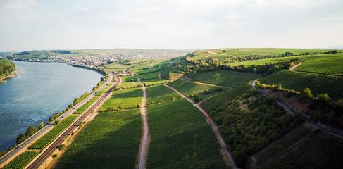 aerial view over Rheinhessen