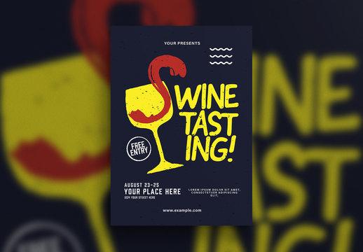 Wine Tasting Flyer Layout