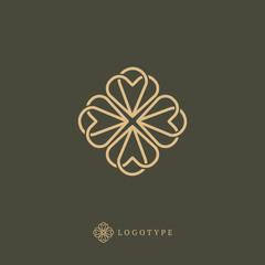Vector celtic luxury curve logo design. Polygon ornate frame. Vintage premium design vector element.