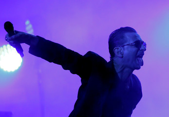 Lead singer of Depeche Mode Dave Gahan performs at the Paleo Festival in Nyon