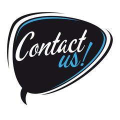 contact us retro speech bubble