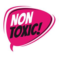 non toxic retro speech balloon