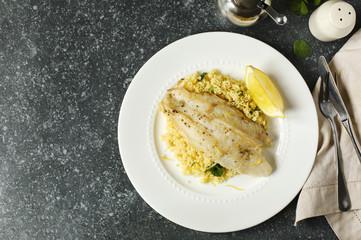 Fried Basa Fillet with Lemon Couscous