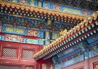 Forbidden city architecture, art and ornaments, Beijing, China