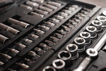 Werkzeugkasen mit Imbus und Aufsätzen