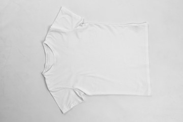 Blank t-shirt on white background