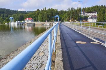 Lipno dam on the river Vltava, Czech republic, Europe