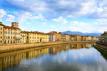 Pisa day view, Tuscany, Italy