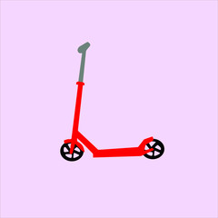 Scooter Skate Toy Vector