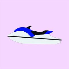 Blue and White Waveruner