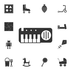 piano toy icon. Detailed set of toys icon. Premium graphic design. One of the collection icons for websites, web design, mobile app