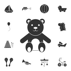 Teddy bear icon. Detailed set of toys icon. Premium graphic design. One of the collection icons for websites, web design, mobile app
