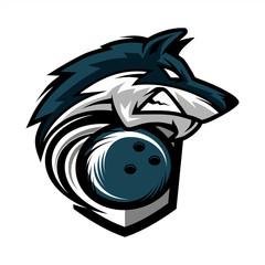 Bowling Wolf Team Logo