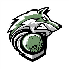 Golf Wolf Team Logo