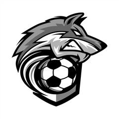 Football Wolf Team Logo