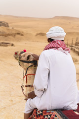 Man sitting on a Camel in Egypt