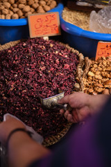 Dried flower in the market