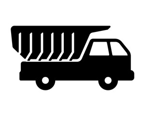 truck vehicle black silhouette image vector icon symbol