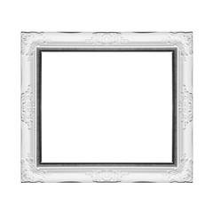 Silver frame isolated on white background.