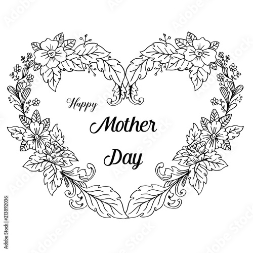 lettering happy mothers day beautiful greeting card stock image and Happy Family Greetings lettering happy mothers day beautiful greeting card