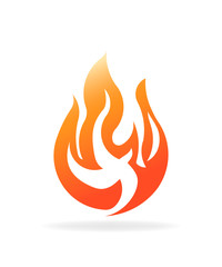 Fire burning flame. Logo vector design