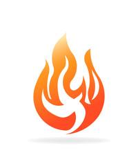 Fire burning flame. Logo vector design