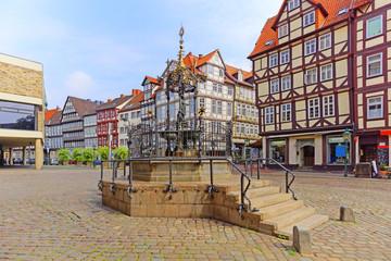 Hannover Holzmarkt mit Brunnen