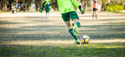 Amateur kids soccer match