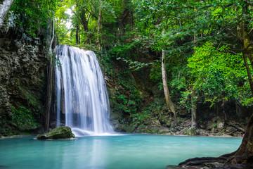 Wall Mural - Erawan waterfall in Thailand National Park