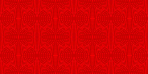 Background pattern seamless red luxury round rectangle circle abstract vector design. Chinese New Year background