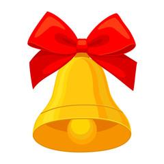 Colorful cartoon christmas bell