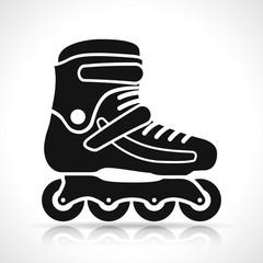 roller skate on white background