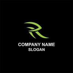 Tribal R letter initial logo.