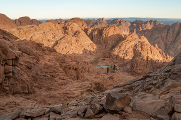 View to the Moses mountains, Egypt 1