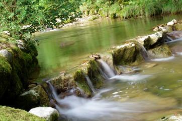 rivière en pause longue
