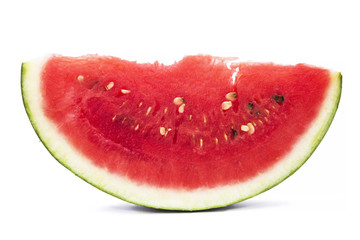 slice of watermelon isolated