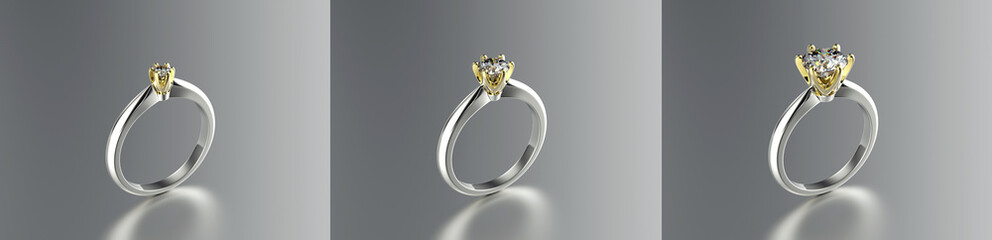 Fashion ring with gemstone. Jewelry background