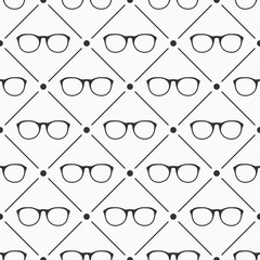 Glasses seamless pattern.